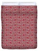 Retro Red Pattern Duvet Cover