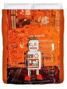 Retro Robotic Nostalgia Duvet Cover