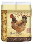 Retro Rooster 1 Duvet Cover