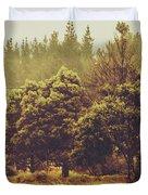 Retro Rural Tasmania Scene Duvet Cover