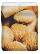 Retro Shortbread Biscuits In Old Kitchen Duvet Cover