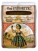 Retro Tobacco Label 1868 C Duvet Cover