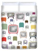 Retro T.v. Duvet Cover