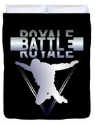 Retro Vintage 90s Chrome Skydiver Battle Royale Gamer T Shirt Duvet Cover