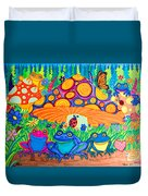 Return To Happy Frog Meadow Duvet Cover