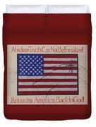 Returning America Back To God Duvet Cover