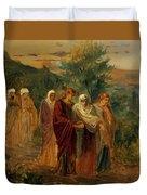 Returning From The Burial Of Christ Duvet Cover