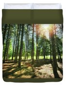 Retzer Nature Center Pine Trees Duvet Cover