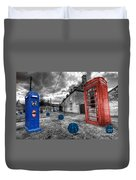 Revenge Of The Killer Phone Box  Duvet Cover by Rob Hawkins