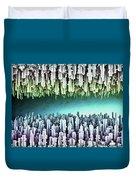 Reversible Futuristic Megalopolis City Duvet Cover