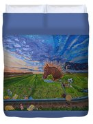 Revisiting, The Childhood Ride Duvet Cover