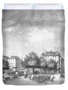 Revolution Of Geneva 1846 Place Bel-air Duvet Cover