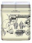 Revolving Fire Arm-1875 Duvet Cover