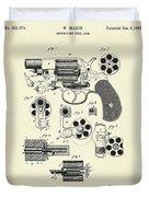Revolving Fire Arm-1881 Duvet Cover
