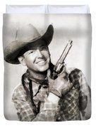 Rex Allen, Vintage Actor Duvet Cover