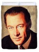 Rex Harrison, Vintage Actor Duvet Cover