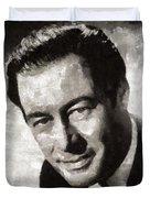 Rex Harrison, Vintage Hollywood Legend Duvet Cover