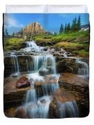 Reynolds Mountain Waterfall Duvet Cover