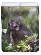Rhesus Laughing Duvet Cover