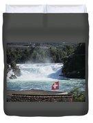 Rhine Falls In Switzerland Duvet Cover