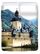 Rhine River Castle Duvet Cover