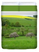 Rhineland-palatinate Summer Meadow With Cherry Trees Duvet Cover