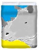 Rhino Drink. Duvet Cover