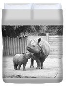 Rhino Mom And Baby Duvet Cover