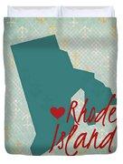 Rhode Island Anchors Duvet Cover