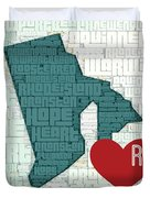 Rhode Island Cities Duvet Cover