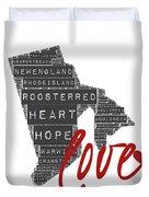 Rhode Island Love Duvet Cover