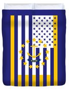 Rhode Island State Flag Graphic Usa Styling Duvet Cover