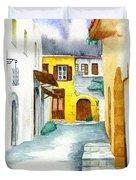 Rhodes Greece Duvet Cover
