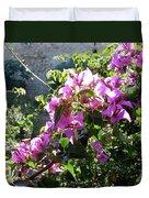 Rhodes Greece Flowers Duvet Cover