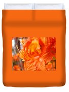 Rhodies Art Prints Orange Rhododendron Flowers Baslee Troutman Duvet Cover