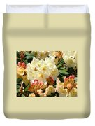 Rhodies Creamy Yellow Orange 3 Rhododendrums Gardens Art Baslee Troutman Duvet Cover