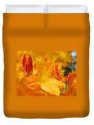 Rhodies Orange Yellow Rhododendrons Art Prints Canvas Baslee Troutman Duvet Cover