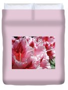Rhodies Pink Fine Art Photography Rhododendrons Baslee Troutman Duvet Cover