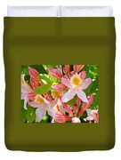 Rhodies Pink Orange Yellow Summer Rhododendron Floral Baslee Troutman Duvet Cover