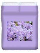 Rhododendron Floral Flowers Lavender Purple Prints Baslee Duvet Cover