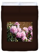Rhododendron Flower Garden Art Prints Canvas Pink Rhodies Baslee Troutman Duvet Cover