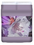 Rhododendron In White And Magenta Duvet Cover