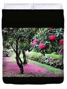 Rhododendrons Blooming Villa Carlotta Italy Duvet Cover