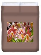 Rhododendrons Floral Art Prints Canvas Pink Orange Rhodies Baslee Troutman Duvet Cover