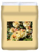 Rhododendrons Garden Art Prints Creamy Yellow Orange Rhodies Baslee Duvet Cover