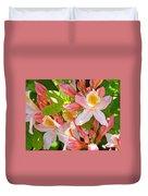 Rhododendrons Garden Floral Art Print Pink Rhodies Duvet Cover