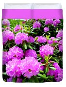 Rhododendrons In Bloom Duvet Cover