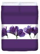 Rhody Ballet-purple Duvet Cover