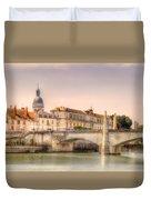 Bridge Over The Rhone River, France Duvet Cover