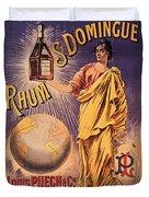 Rhum - Bottle - Earth - Map - Poster - Vintage - Wall Art - Art Print  - Girl  Duvet Cover